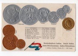 21 - MONNAIE - INDES NEERLANDAISES - Représentation Des Pièces De Monnaie  *en Relief*embossed* - Monete (rappresentazioni)