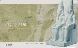 TC Japon / 110-016 - Site EGYPTE - ABOU SIMBEL PHARAON RAMSES II ARCHEOLOGIE - EGYPT Rel Japan Phonecard - 199 - Landschaften
