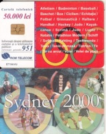 ROMANIA(chip) - Sydney 2000 Olympics, Chip GEM3.3, 09/00, Used - Jeux Olympiques