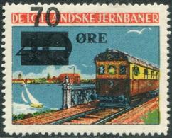 Denmark 1951 DE LOLLANDSKE JB 70 ø. Railway Parcel Eisenbahn Paketmarke Chemin De Fer TRAIN Yacht BRIDGE Ship LIGHTHOUSE - Trenes