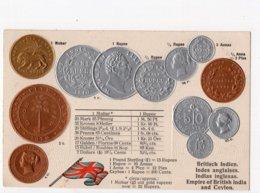 22 - MONNAIE - INDES ANGLAISES - Représentation Des Pièces De Monnaie *en Relief*embossed* - Monete (rappresentazioni)