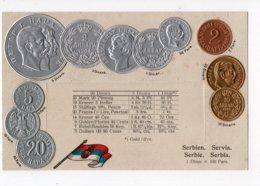 23 - MONNAIE - Représentation Des Pièces De Monnaie De SERBIE  *en Relief*embossed* - Monete (rappresentazioni)
