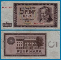 DDR Banknote 5 Mark 1964 Ros. 354a VF (3)   (20969 - Sin Clasificación