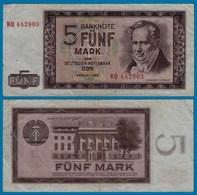 DDR Banknote 5 Mark 1964 Ros. 354a VF (3)   (20969 - [ 6] 1949-1990 : RDA - Rép. Dém. Allemande
