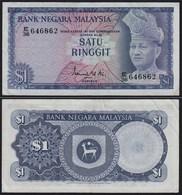 Malaysia 1 Ringgit Banknote ND 1972/76 Pick 7 VF+  (3+)    (21543 - Banconote