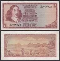 Südafrika - South Africa 1 Rand (1967) Pick 109b VF- (3-)  (25555 - Bankbiljetten
