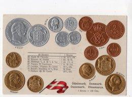 24 - MONNAIE - DANEMARK - Représentation Des Pièces De Monnaie *en Relief*embossed* - Monete (rappresentazioni)