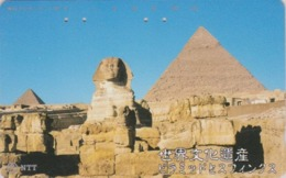 Télécarte Japon / NTT 331-452 A - Site EGYPTE - PYRAMIDE & SPHINX - EGYPT Related Japan Phonecard - 201 - Landschaften