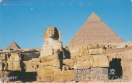 Télécarte Japon / NTT 331-452 B ** ONE PUNCH ** - Site EGYPTE - PYRAMIDE & SPHINX - EGYPT Related Japan Phonecard - 202 - Landschaften