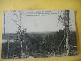 51 8240 CPA - 51 LA GUERRE... LES MARRONNIERS DE LA PLACE DE L'EGLISE A VAUQUOIS ET VUE DE L'ARGONNE VERS MONTFAUCON - Francia