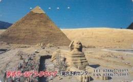 TC Japon / 110-016 - Série Site TOBU WORLD SQUARE - EGYPTE EGYPT - PYRAMIDE & SPHINX - Japan Phonecard - 206 - Cinema