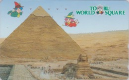 TC Japon / 110-145775 - Série Site TOBU WORLD SQUARE - EGYPTE EGYPT - PYRAMIDE & SPHINX - Japan Phonecard - 207 - Landschaften