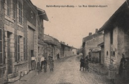 Saint-Remy-sur-Bussy La Rue Général Appert  (BEAU PLAN  -  Très Belle Animation ) - France