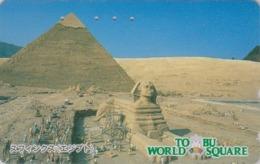 TC Japon / 110-011 - Série Site TOBU WORLD SQUARE - EGYPTE EGYPT - PYRAMIDE & SPHINX - Japan Phonecard - 208 - Landschaften