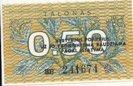 LITUANIE 0.50 TALONAS 1991 UNC P 31 - Lituania