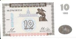 ARMENIE 10 DRAM 1993 UNC P 33 - Arménie