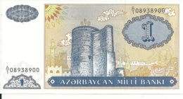 AZERBAIDJAN 1 MANAT ND1993 UNC P 14 - Azerbaïjan