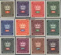 Liechtenstein D45-D56 (complete Issue) Unmounted Mint / Never Hinged 1968 Service Marks - Official