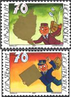 Liechtenstein 1257-1258 (complete Issue) Unmounted Mint / Never Hinged 2001 Grußmarken - Liechtenstein