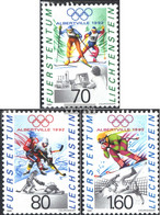 Liechtenstein 1030-1032 (complete Issue) Unmounted Mint / Never Hinged 1991 Winter Olympics - Liechtenstein