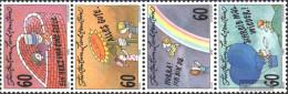 Liechtenstein 1111-1114 Quad Strip (complete Issue) Unmounted Mint / Never Hinged 1995 Grußmarken - Liechtenstein