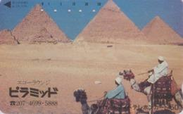 Télécarte Japon / 110-011 - Site EGYPTE - PYRAMIDE & Animal CHAMEAU CAMEL - EGYPT Rel. Japan Phonecard - 209 - Landschaften
