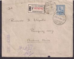 Uruguay - 1922 -  Lettre -> Argentina - Uruguay