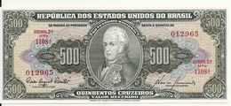 BRESIL 500 CRUZEIROS ND1955-60 UNC P 164 D - Brasilien