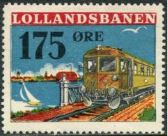 Denmark 1955 LOLLANDSBANEN 175 øre Railway Parcel Eisenbahn Paketmarke Chemin De Fer TRAIN Yacht BRIDGE Ship LIGHTHOUSE - Trenes