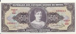 BRESIL 50 CRUZEIROS ND1963 UNC P 179 - Brazilië