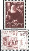 Denmark 790,791 (complete Issue) Unmounted Mint / Never Hinged 1983 Grundtvig, Eckersberg - Denmark