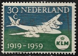 Netherlands SG885 1959 40th Anniversary Of KLM 30c Good/fine Used [40/32865/6D] - Period 1949-1980 (Juliana)