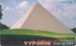 Télécarte Japon / 110-011 - Site EGYPTE - PYRAMIDE ** YANKU **  - EGYPT Related Japan Phonecard - 217 - Cultura