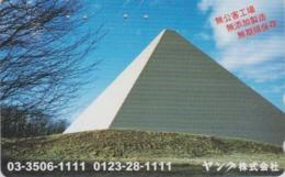 Télécarte Japon / MF-1001888 - Site EGYPTE - PYRAMIDE ** YANKU **  - EGYPT Related Japan Phonecard - 218 - Cultura
