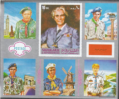 Sharjah Block101 (complete Issue) Unmounted Mint / Never Hinged 1971 Scouts Europe - Sharjah