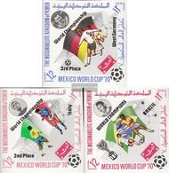 Yemen (UK) 1144B-1146B (complete Issue) Unmounted Mint / Never Hinged 1970 Football-WM '70, Mexico - Yemen