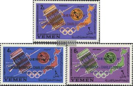 Yemen (UK) 179A-181A (complete Issue) Unmounted Mint / Never Hinged 1965 Telecommunication Union / Gemini V - Yemen