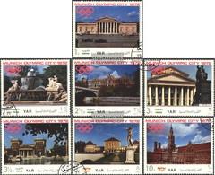 North Yemen (Arab Republic.) 1232-1238 (complete Issue) Fine Used / Cancelled 1970 Known Structures Munich - Yemen