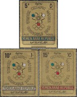 North Yemen (Arab Republic.) 613-615 (complete Issue) Fine Used / Cancelled 1967 Olympic. Winter Games, Grenoble - Yemen