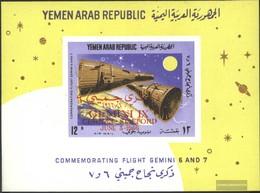 North Yemen (Arab Republic.) Block56 (complete Issue) Unmounted Mint / Never Hinged 1966 Flights Of Gemini 9 - Yemen