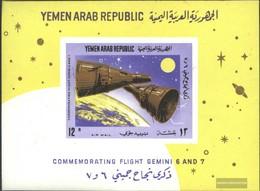North Yemen (Arab Republic.) Block55 (complete Issue) Unmounted Mint / Never Hinged 1966 Group Flight Of Gemini 6 And 7 - Yemen