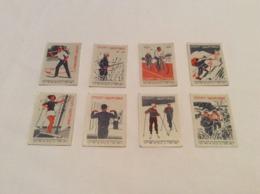 Collectible Vintage Set 8 USSR 1965 Stickers Matchbox Match Labels. Soviet Propaganda Sport - Health! Bicycle Climbing - Matchbox Labels