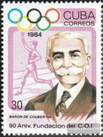 Cuba 2866 (complete Issue) Unmounted Mint / Never Hinged 1984 90 Years IOC - Cuba