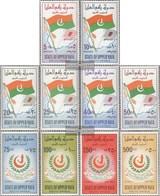 Aden - Upper Yafa 1-10 (complete Issue) Fine Used / Cancelled 1967 Flag And Emblem Of Upper Yafa - Yemen