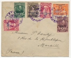 "MAROC ESPAGNOL - Enveloppe Affr. Composé TP Surchargés ""Zona Protectorado Espanol"" TETUAN 1926 - Spanish Morocco"