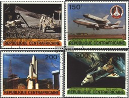Central African Republic 736-739 (complete Issue) Fine Used / Cancelled 1981 Conquest Of Space - Central African Republic