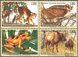 UN - Geneva 263-266 Block Of Four (complete. Issue) Unmounted Mint / Never Hinged 1995 Affected Animals - Geneva - United Nations Office