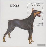 Tanzania Block227 (complete Issue) Fine Used / Cancelled 1993 Dogs - Tanzania (1964-...)