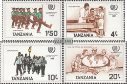Tanzania 288-291 (complete Issue) Unmounted Mint / Never Hinged 1986 Year The Youth - Tanzania (1964-...)