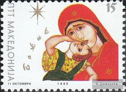 Makedonien 55 (complete Issue) Unmounted Mint / Never Hinged 1995 Christmas - Macedonia